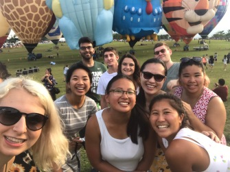 Selfies at the hot air balloon festival!