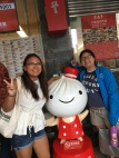 Pic with the Din Tai Fung dumpling mascot!